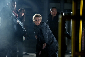 Jasmine Garza and the Liber8 crew of Continuum the TV series